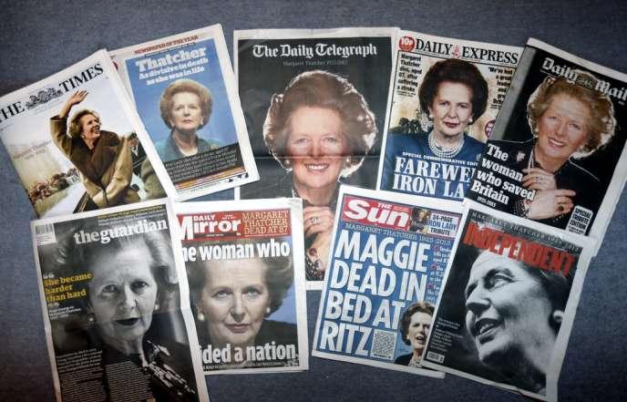 Les titres de la presse britannique le 9 avril, au lendemain de la mort de la