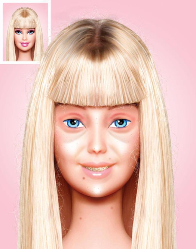 Barbie sans maquillage par Eddi Aguirre.