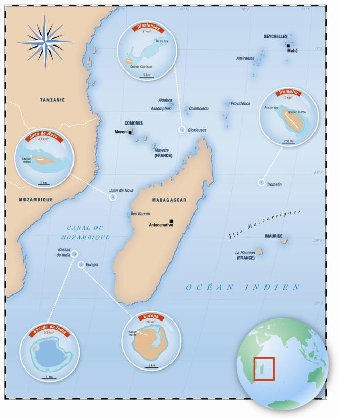 Carte des îles Eparses.