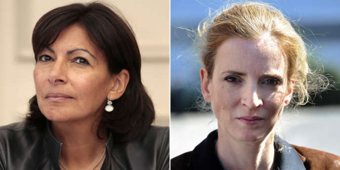 La candidate socialiste Anne Hildago et sa rivale UMP pour les municipales de 2014 à Paris, Nathalie Kosciusko-Morizet.