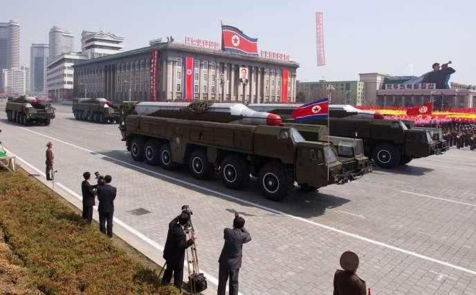Le Musudan aurait une portée théorique de 3 000 kilomètres, soit la capacité d'atteindre la Corée du Sud ou le Japon.