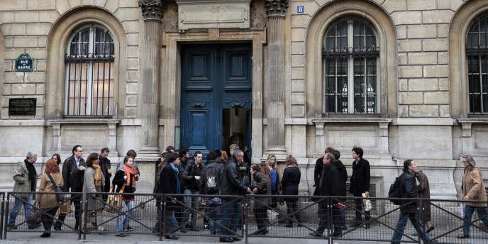 Le lycée Condorcet, à Paris, qui abrite de nombreuses prépas.
