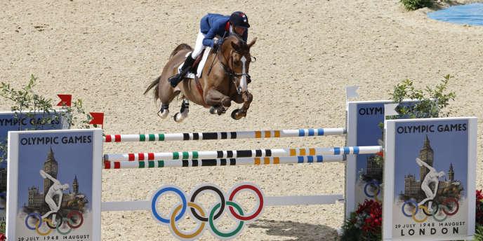 Simon Delestre, aux Jeux olympiques de Londres, le 6 août 2012.