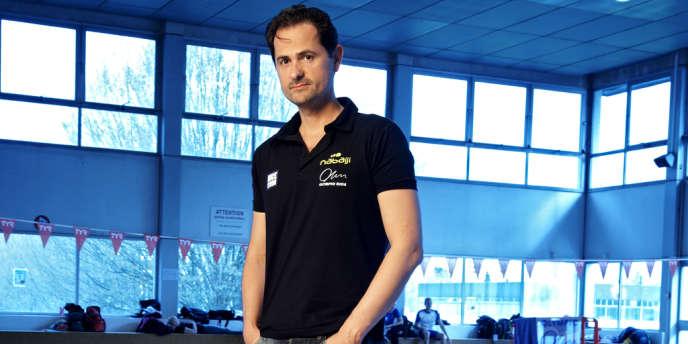 Fabrice Pellerin, mardi 9 avril à la piscine Bréquigny de Rennes.