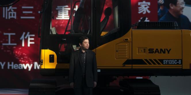 Xiang Wenbo, un des quatre dirigeants du groupe Sany, dans l'usine de Shanghaï. Champion local du matériel de BTP, le groupe chinois part à la conquête des marchés occidentaux.