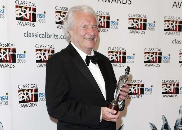 Le chef d'orchestre Sir Colin Davis à Londres, le 8 mai 2008.