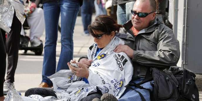 Des rescapés de l'attentat du marathon de Boston.
