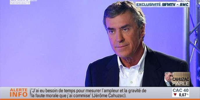 Jérôme Cahuzac à 18 heures sur BFM.