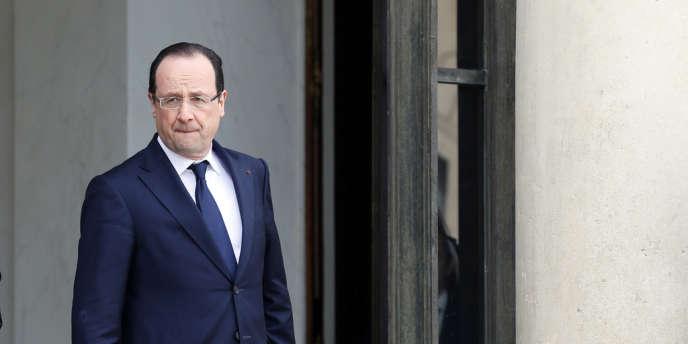 François Hollande, à l'Elysée, jeudi 11 avril 2013.