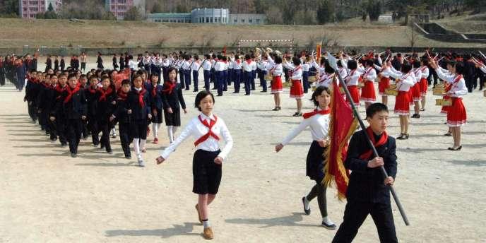 Célébration de l'anniversaire de la naissance de Kim Il-sung à Pyongyang, le 15 avril.