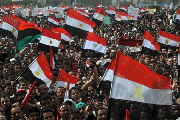 Egypte, place Tahrir, début 2011.