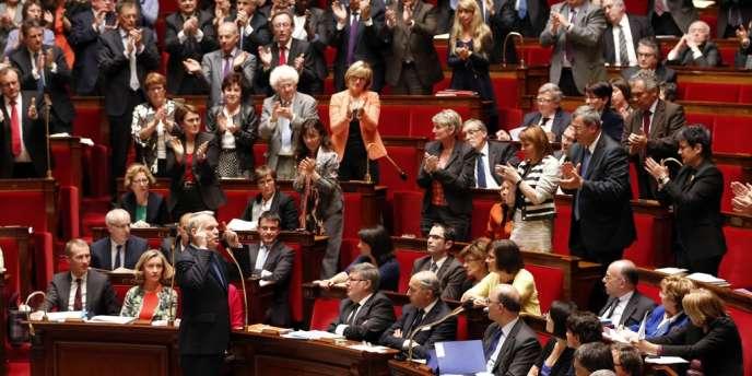 Jean-Marc Ayrault à l'Assemblée nationale, le mercredi 17 avril.
