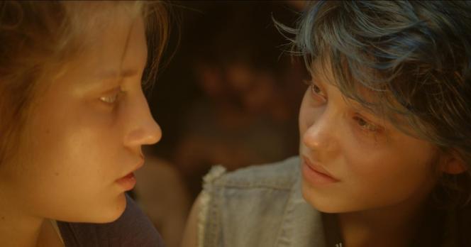 Adèle Exarchopoulos et Léa Seydoux dans le film français d'Abdellatif Kechiche,