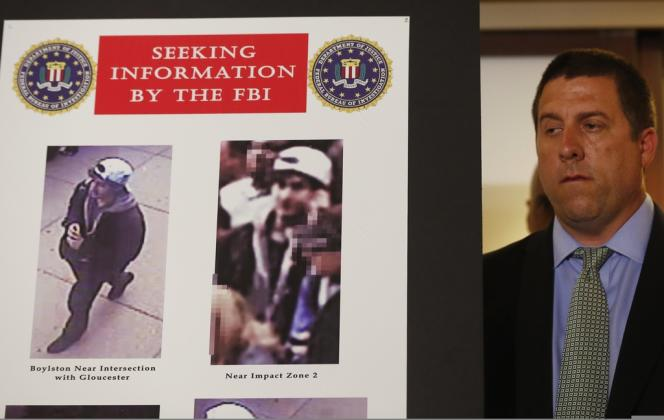 Photos des suspects de l'attentat de Boston diffusées par le FBI.