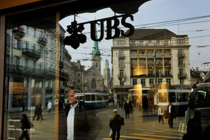 Une agence UBS en Suisse.
