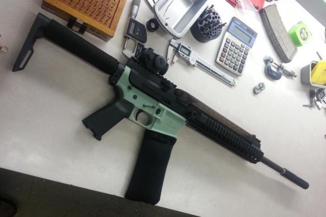 Le fusil AR15 partiellement réalisé grâce à une imprimante 3D par Defense Distributed.