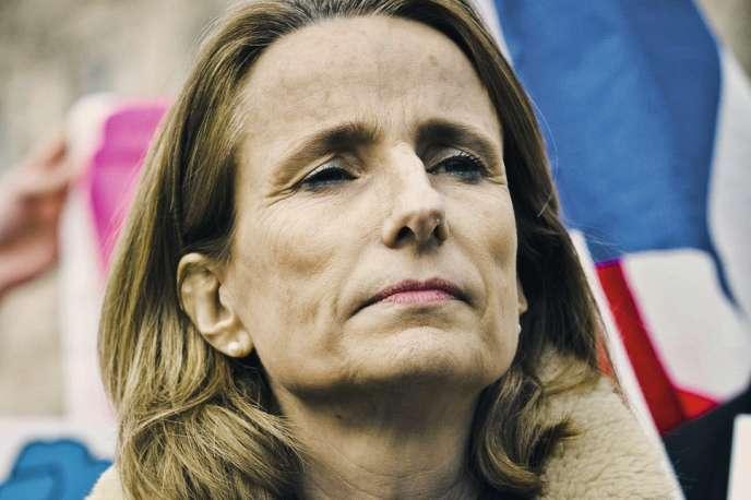 Béatrice Bourges, du collectif Printemps français, le 27 mars.