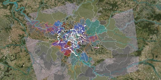 Carte interactive des 650 projets architecturaux pour le Grand Paris, sur le site de l'Atelier international du Grand Paris.