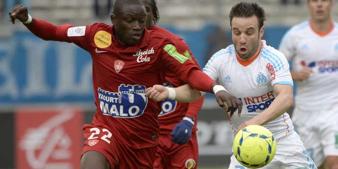 Le Marseillais Mathieu Valbuena, le 20 avril, au Stade-Vélodrome, face à Brest.
