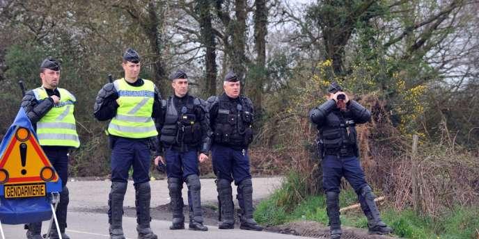 Depuis la fin de l'année, les gendarmes étaient présents en nombre sur le site où sont rassemblés les opposants au projet d'aéroport à Notre-Dame-des-Landes.