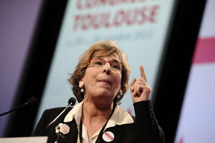 Marie-Noëlle Lienemann pendant le congrès de Toulouse en octobre 2012.