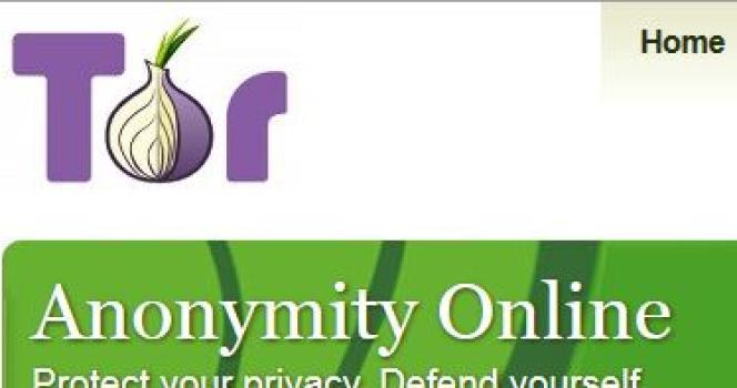 La page d'accueil du site de TOR.