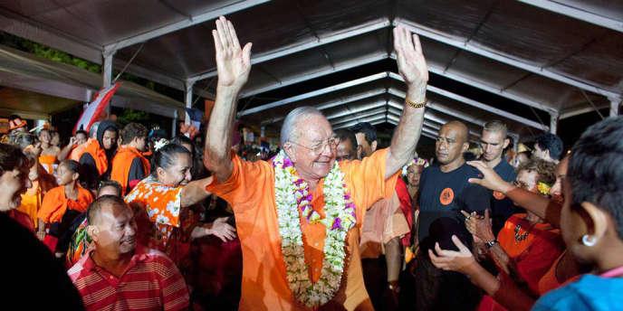 Gaston Flosse le 20 avril 2013 à Papeete.