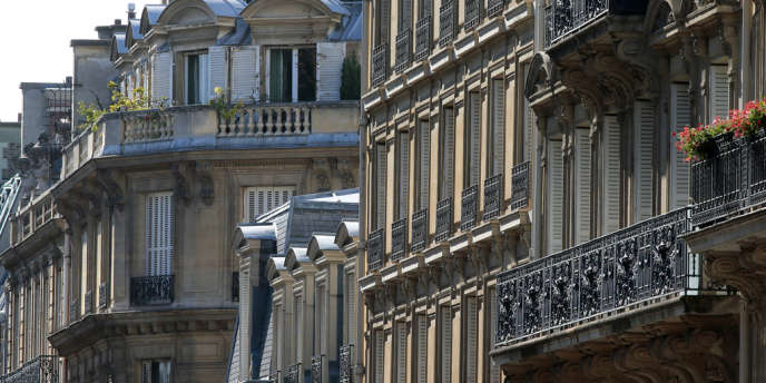 Immeubles d'habitation à Paris, dans le 8earrondissement.