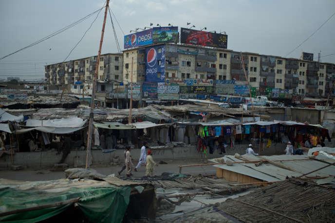 Sohrab Goth, le 18 avril. Ce quartier de Karachi, fief de la communauté pachtoune, est devenu un bastion des talibans pakistanais.