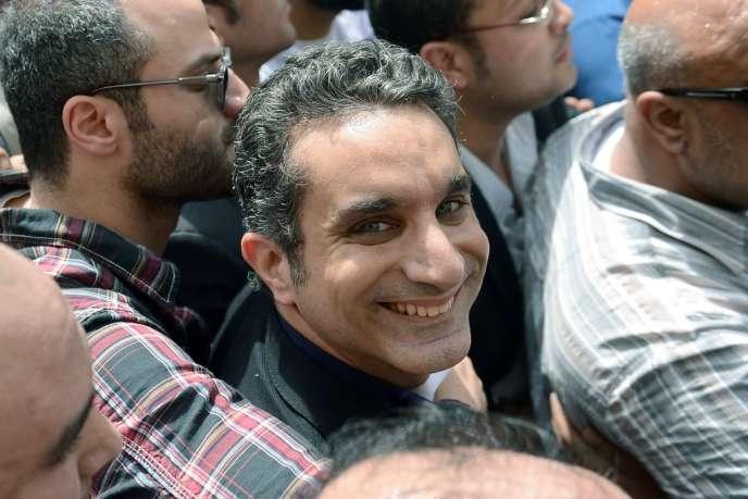 L'humoriste égyptien Bassem Youssef le 31 mars.