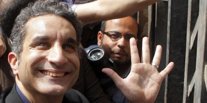 L'humoriste égyptien Bassem Youssef en mars 2013.