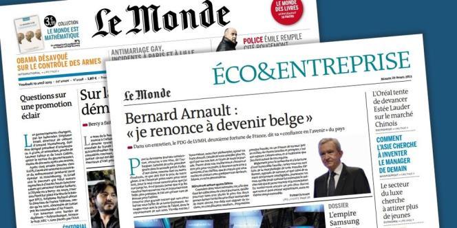 Le Monde renforce son traitement de l'économie à compter du 29 avril avec le lancement du cahier quotidien