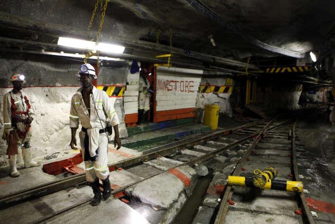 La mine de Marikana en mars 2013.
