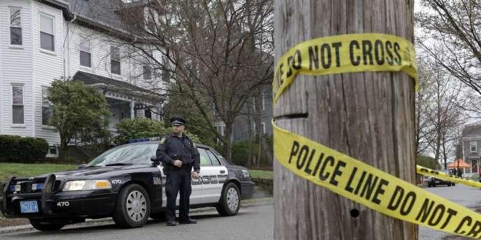 A Watertown, dans le quartier où s'était réfugié Djokhar Tsarnaev, arrêté vendredi soir 19 avril.
