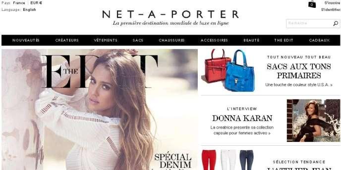 Page d'accueil du site net-a-porter.com. Net-a-porter compte aujourd'hui 2 500 salariés et investit à tout-va.