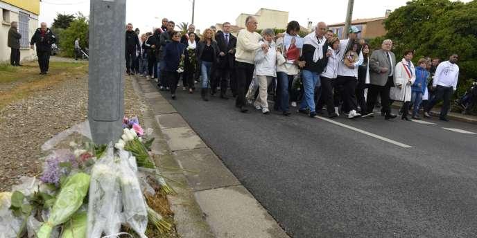Marche en hommage aux victimes de la tuerie d'Istres, samedi 27 avril.