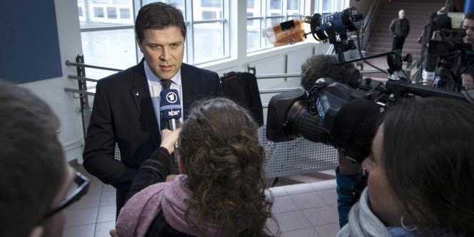 Le candidat conservateur au poste de premier ministre, Bjarni Benediktsson, 43 ans.