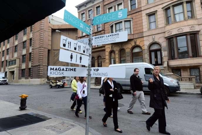 Sur le site de la Paramount, les galeries ont investi le faux quartier de New York.