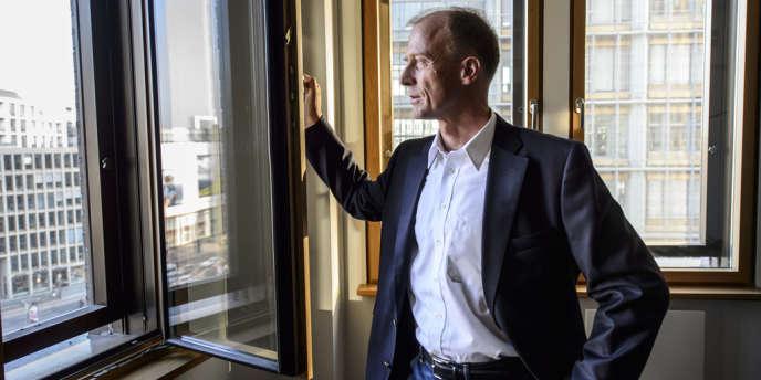 Tom Enders, le patron allemand d'EADS, dans son bureau à Berlin, le 25 avril.