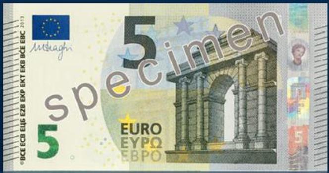 Le nouveau billet de 5 euros en service dès le 2 mai.
