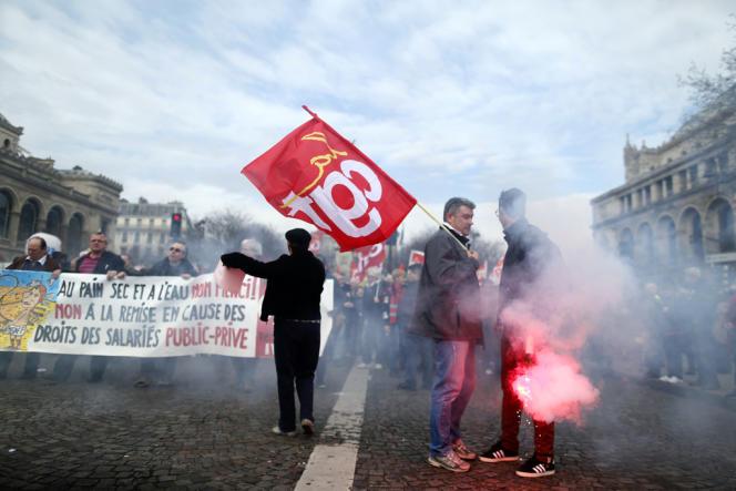 Manifestation contre l'accord sur l'emploi, le 5 mars, à Paris.