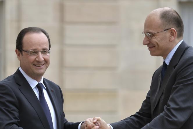 François Hollande et Enrico Letta, le nouveau président du conseil italien, ont tenu une conférence de presse commune mercredi 1er mai à l'Elysée.