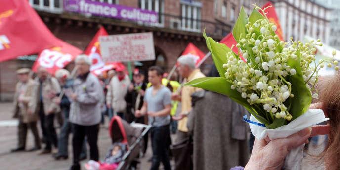 Manifestation le 1er mai à Strasbourg.