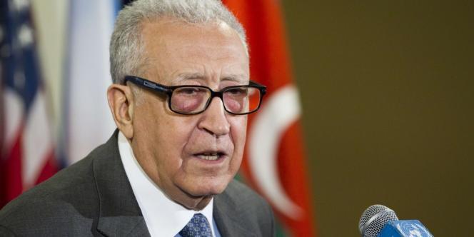 Cela fait plusieurs semaines que des rumeurs circulent sur le départ de Lakdhar Brahimi (ici à New York le 19 avril) de son poste d'envoyé spécial de l'ONU et de la Ligue arabe pour la Syrie.