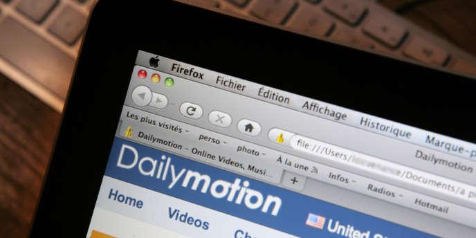 Le site de Daylymotion.