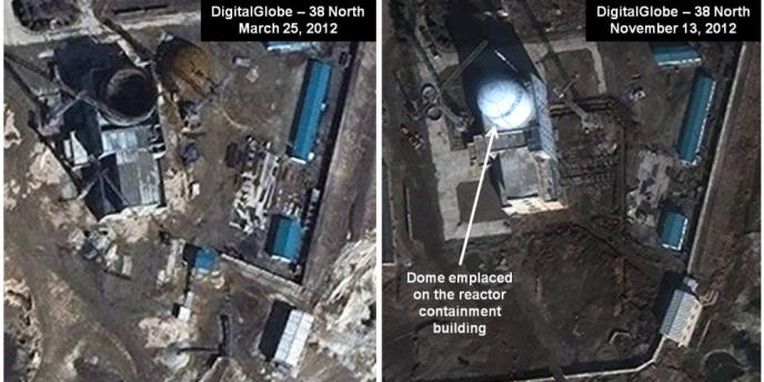 Capture écran du blog 38 North montrant l'emplacement d'un potentiel réacteur nucléaire à eau légère.