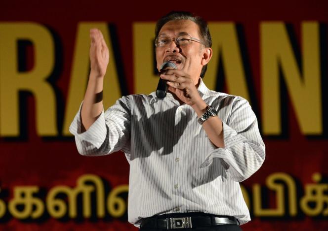 Le leader de l'opposition Anwar Ibrahim, chef de file du Pakatan Rakyat..