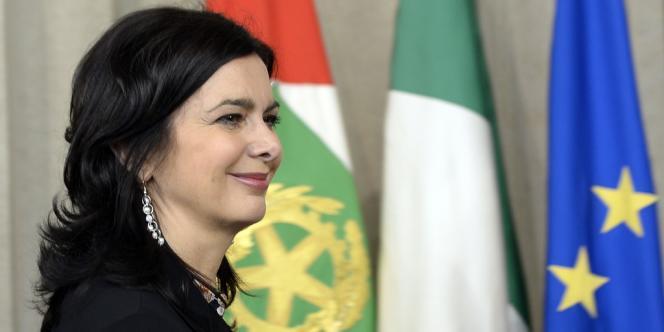 La présidente de la chambre basse italienne, Laura Boldrini, en avril à Rome.