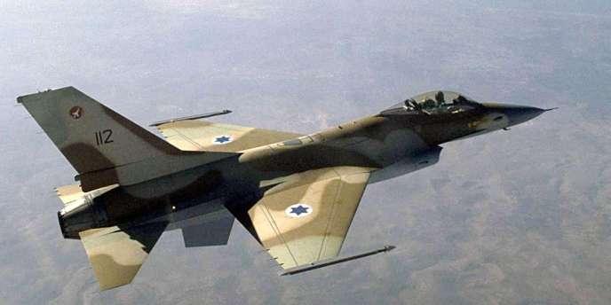 Photo non datée d'un avion F-16 israélien, transmise à l'AFP par le service de presse de l'armée israélienne.