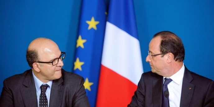 Pierre Moscovici et François Hollande le 3 mai 2013.
